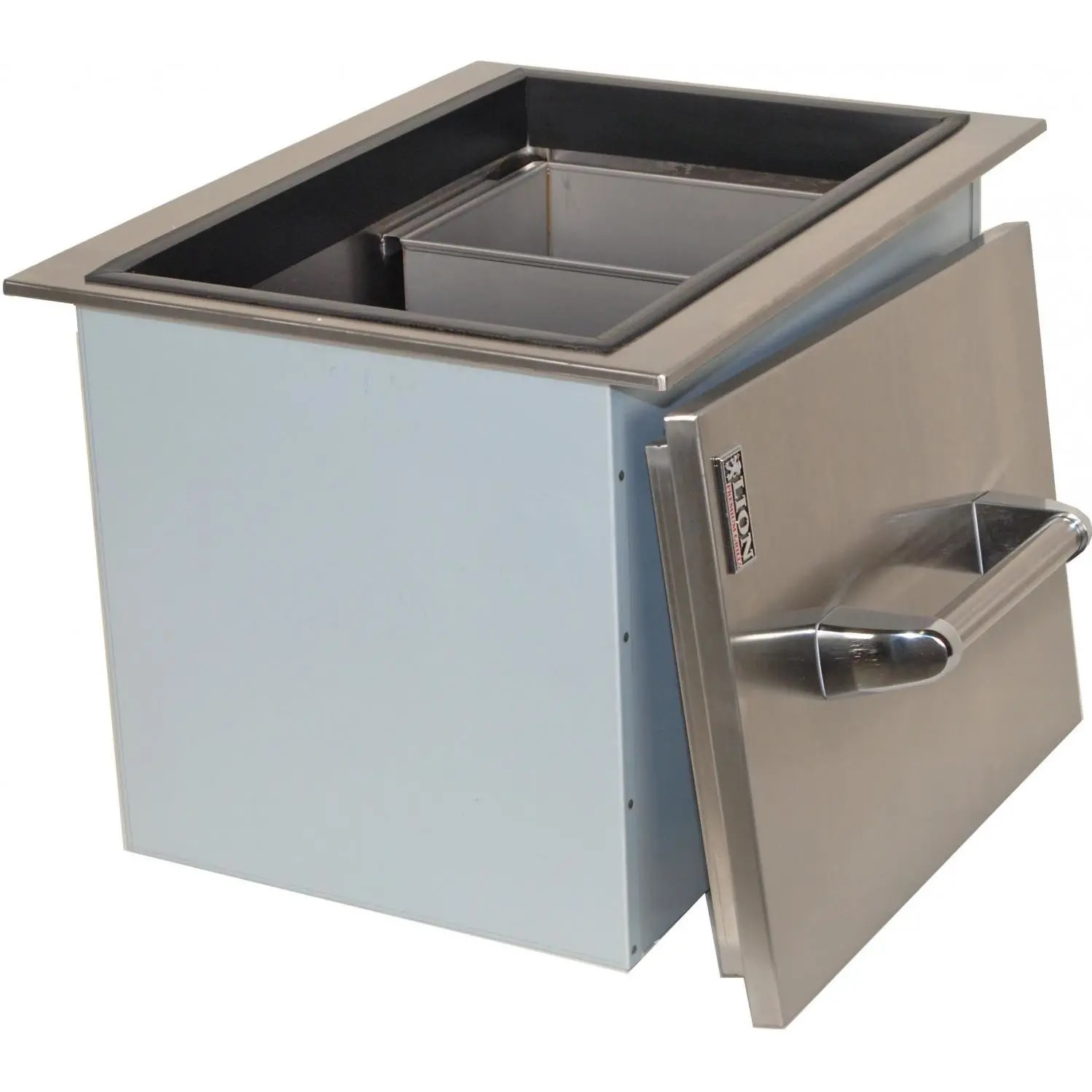 Stainless Steel Ice Bin Cooler/Wine Chiller in Outdoor Cabinets 3