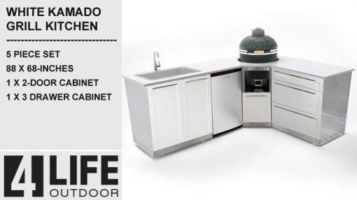 kamado outdoor kitchen kamado cabinet sink cabinet 3 drawer