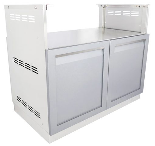 Gray 2 PC BBQ Grill Outdoor Kitchen Cabinets: BBQ Grill Cabinet, 2 door cabinet 11