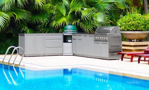 Gray 2-Door Stainless Steel Outdoor Kitchen Cabinet - G40001 4