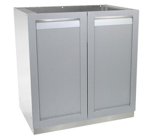 2-door outdoor kitchen cabinet stainless steel
