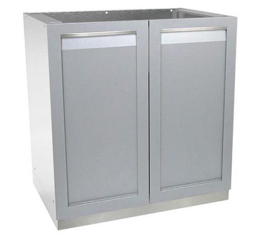 2-door outdoor kitchen cabinet stainless steel
