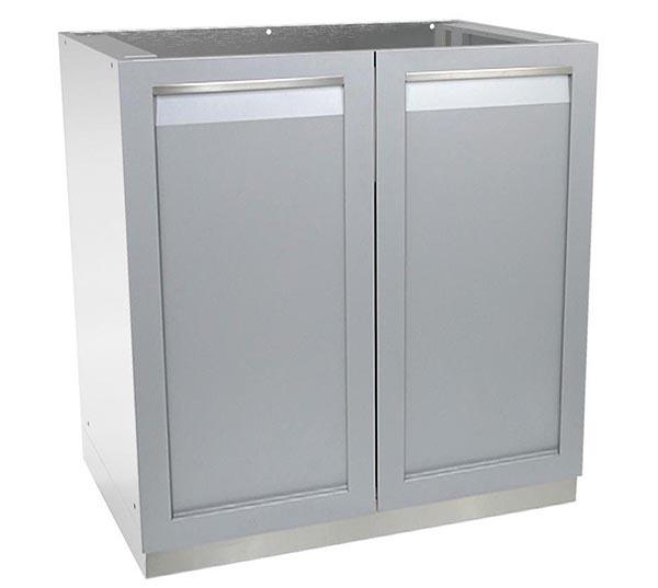 Gray 2 Door Stainless Steel Outdoor Kitchen Cabinet G40001 4
