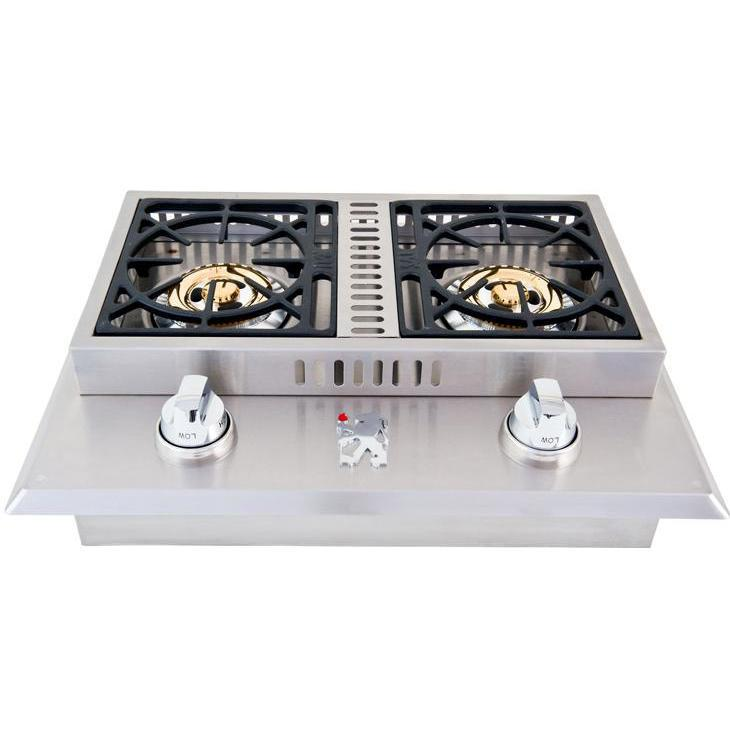 Side burner within outdoor kitchen cabinets 1