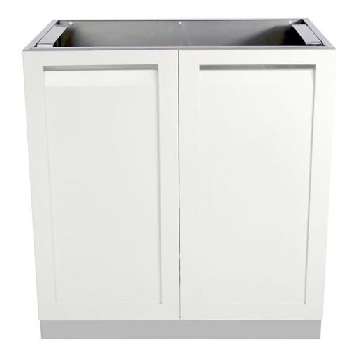 W40001 - 2 door outdoor kitchen cabinet white 6001