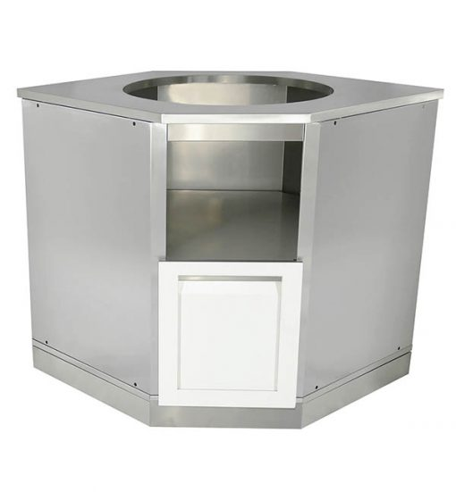 White Kamado Grill Cabinet Stainless steel White