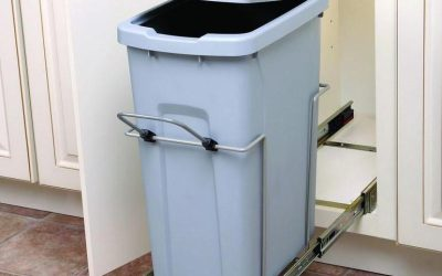 Pull Out Garbage Bins In Outdoor Kitchen Cabinets