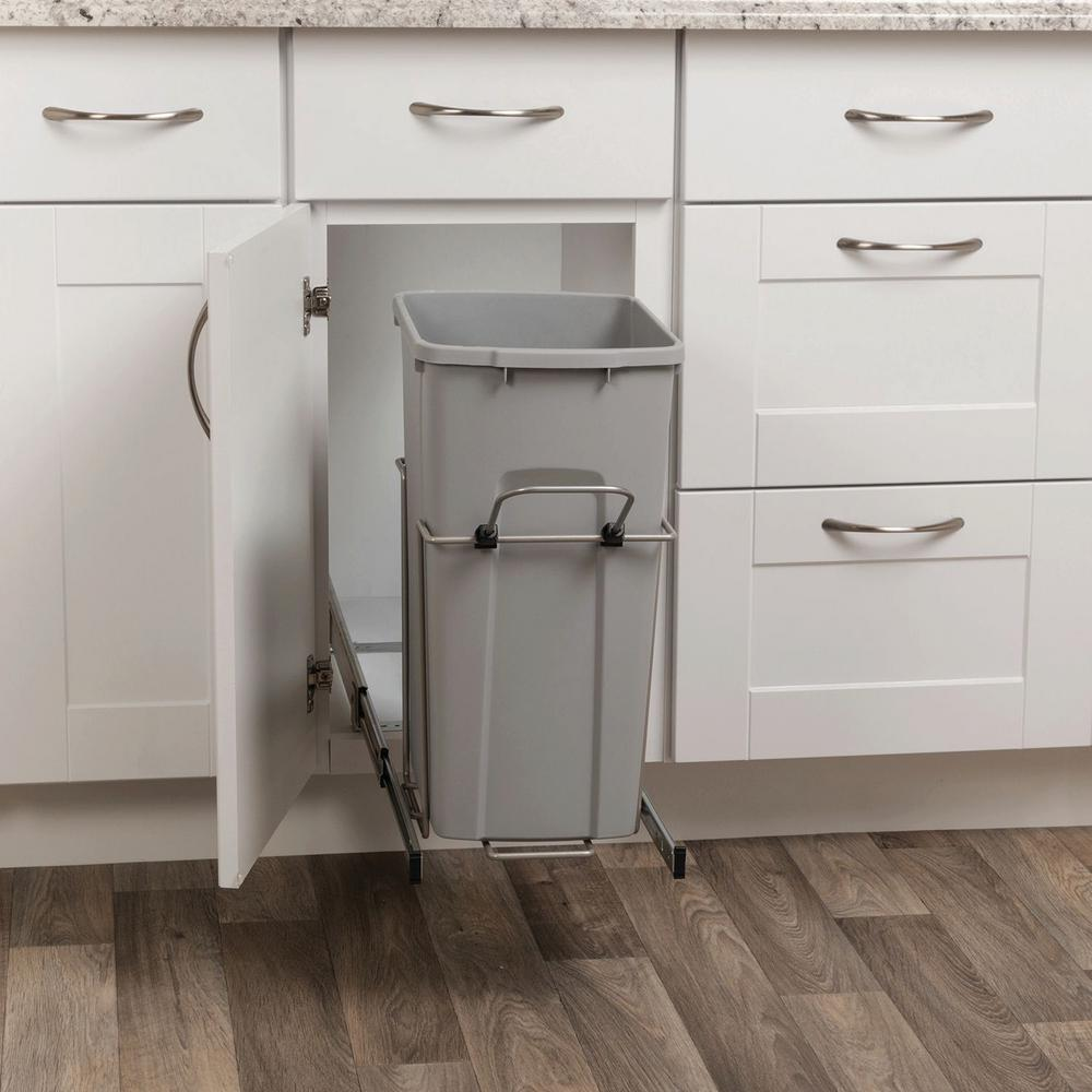 Pull Out Garbage Bins In Outdoor Kitchen Cabinets 6