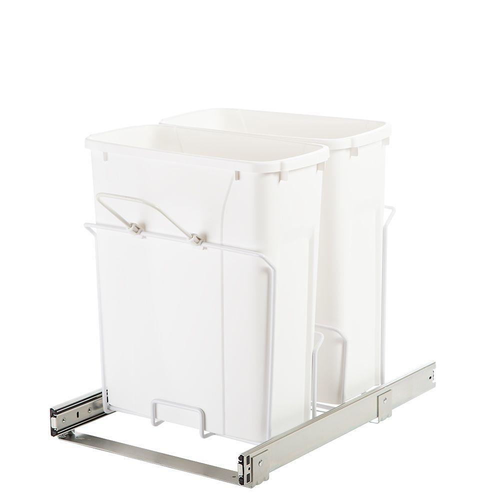 Pull Out Garbage Bins In Outdoor Kitchen Cabinets 4