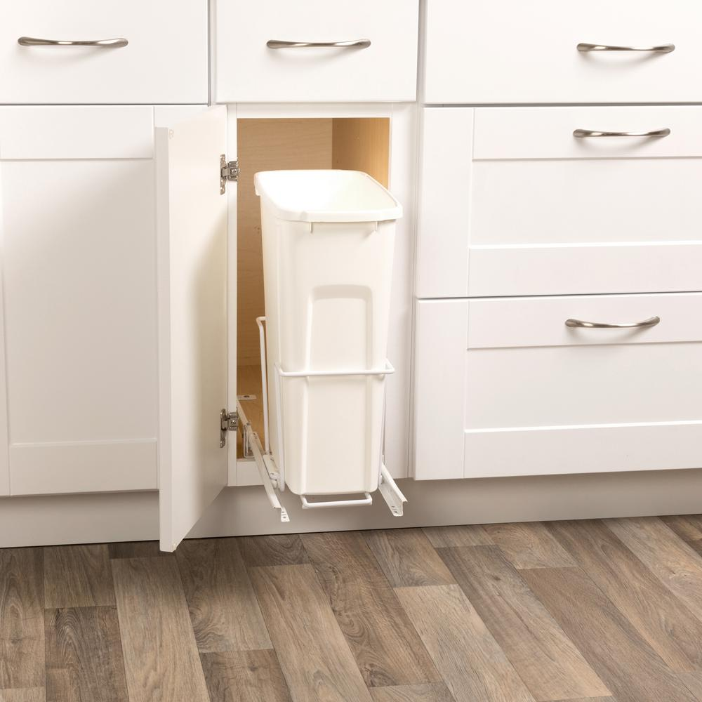 Pull Out Garbage Bins In Outdoor Kitchen Cabinets 3