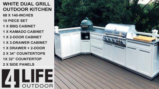 10-PC-outdoor-kitchen-set-Kamado-BBQ-grill-3-drawer-2-door-Combo-3-tops