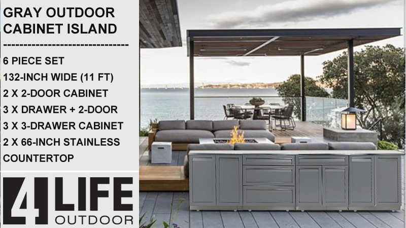 Stainless Steel Island Outdoor Kitchens - 5 ft to 15ft long 11