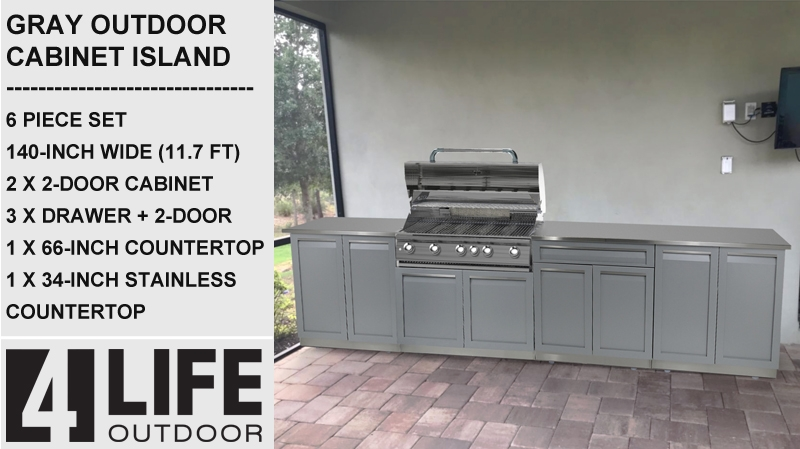 304 Stainless Steel 66X24X1 In. Outdoor Kitchen Countertop 8