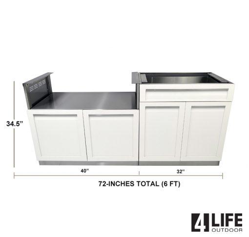 White 2 PC Outdoor Kitchen