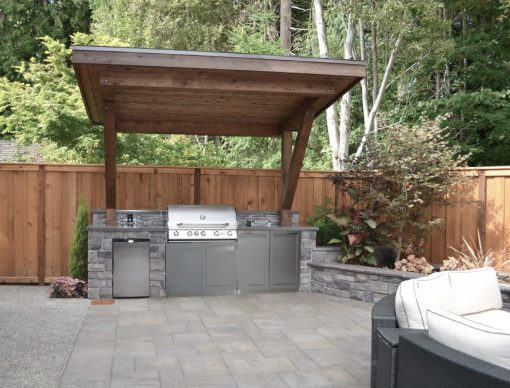 Gray 2 PC BBQ Grill Outdoor Kitchen Cabinets: BBQ Grill Cabinet, 2 door cabinet 4