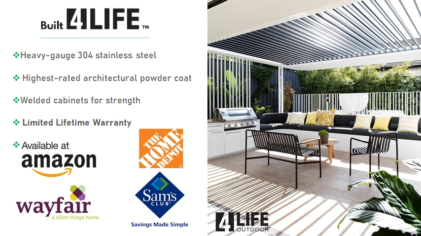 Built 4 Life Stainless Steel Outdoor Kitchen Cabinets