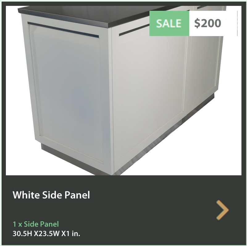 4 Life Outdoor Product Image White Side Panel