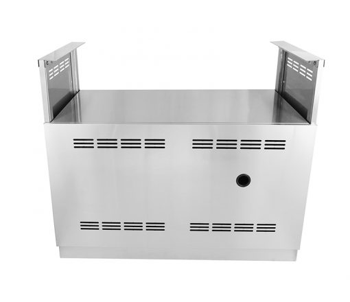 "White 4 PC: BBQ Grill Cabinet, 1 x 2-Door Cabinet, 1 x Drawer Plus 2-Door, 66"" Stainless Countertop 16"