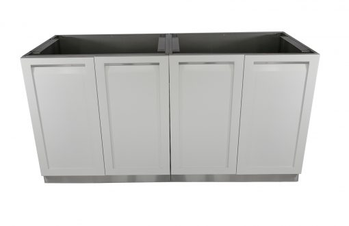 White 2 x 2-door cabinets W/ side panels 4