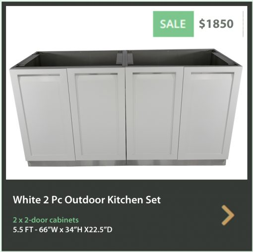 4 Life Outdoor Product Image 5 PC Outdoor kitchen 2 x 2 White