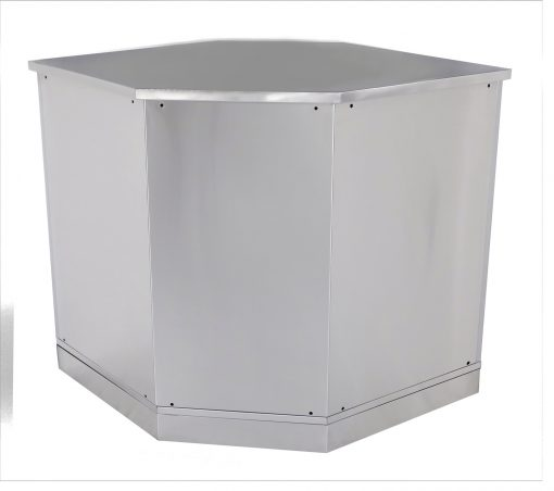 White Corner Stainless Steel Outdoor Kitchen Cabinet - W40055 8