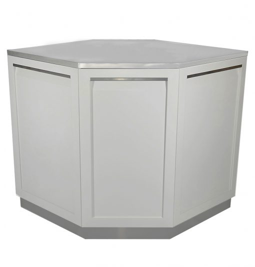 White Corner Stainless Steel Outdoor Kitchen Cabinet - W40055 9