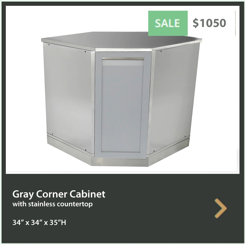 L-Shaped Outdoor Kitchen Cabinet Sets 3