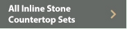 All Inline Stone Countertop Outdoor Kitchen Sets W