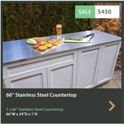 450 4 Life Outdoor 66 Inch Stainless Steel Outdoor Kitchen Countertop