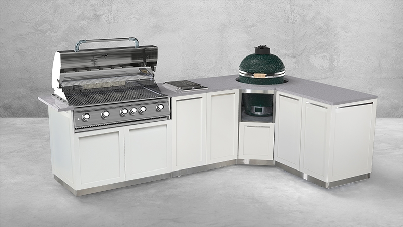 White Stainless Steel Outdoor Kitchen Cabinets 20