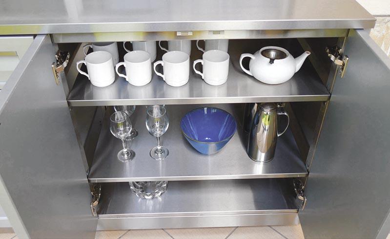 4 Life Outdoor - 2 door stainless steel cabinet open 800