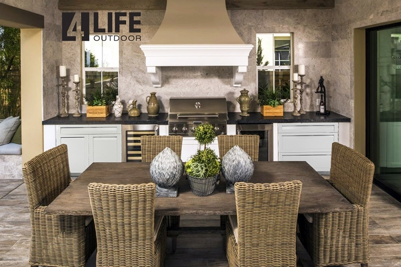 White Stainless Steel Outdoor Kitchen Cabinets 15