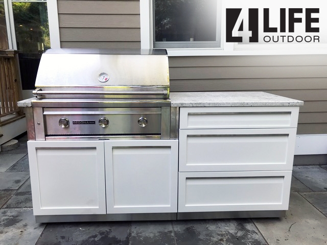 White Stainless Steel Outdoor Kitchen Cabinets 18