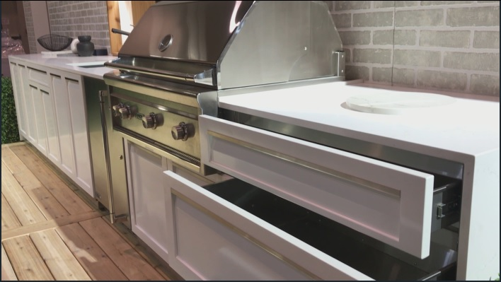 White Stainless Steel Outdoor Kitchen Cabinets 13