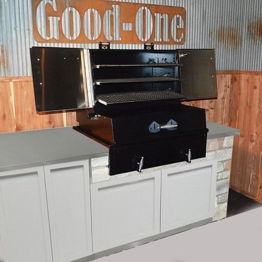 Dealer design: White 4 PC Outdoor Kitchen - 1 x 2-door Cabinet, 1 x 3drawer, 1 x BBQ Cabinet, 1 x Corner Cabinet 14