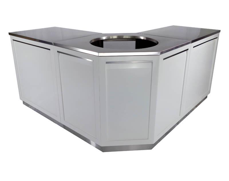 W40054 - built in BBQ cabinet open 600
