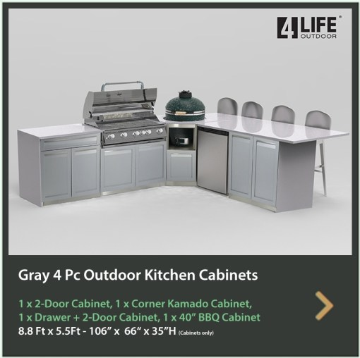 4 Life Outdoor Kitchen Cabinet 4 PC set