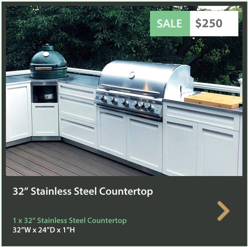 250 4 Life Outdoor 32 Inch Stainless Steel Outdoor Kitchen Countertop