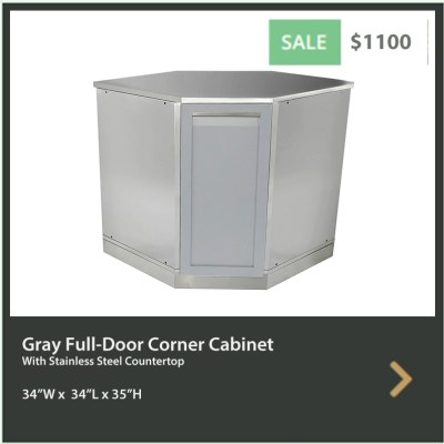 1100 4 Life Outdoor Gray Corner Stainless Steel Outdoor Kitchen Cabinet - G40005