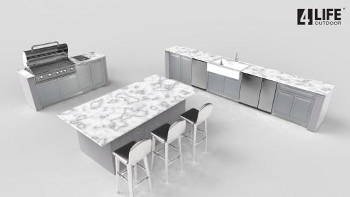 Dealer Pricing - Gonzalez - 5 x Outdoor kitchen Island: 2 x 2-Door Cabinet, 2 x BBQ Cabinets, 1 x Drawer +2-Door Cabinet 9