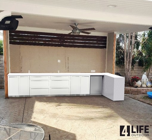 Dealer pricing - Tilencounters - White 4 PC: 2 x 2 Door Cabinet, 2 x 3 Drawer Cabinet 5