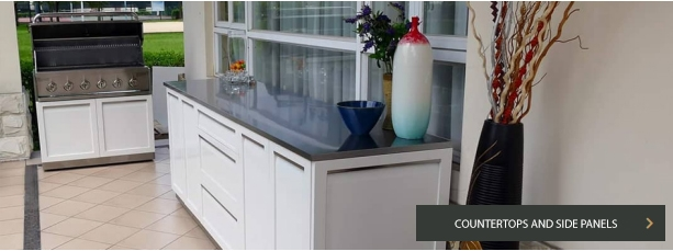Stainless steel countertops and side panels